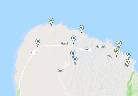 condos, homes and land for sale in North Kohala Hawaii