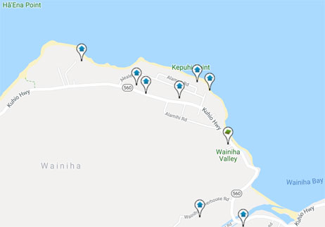 homes and land for sale in Wainiha Hawaii