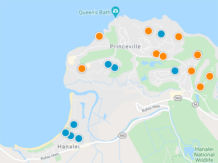 condos, homes and land for sale in Princeville Hawaii