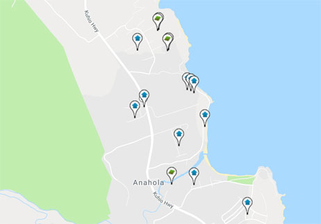 homes and land for sale in Aliomanu Hawaii