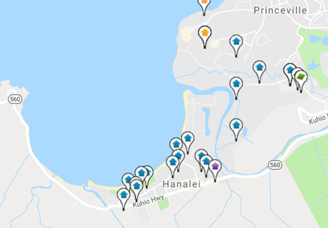 homes and land for sale in Hanalei Hawaii