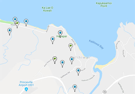 homes and land for sale in Kalihiwai Hawaii