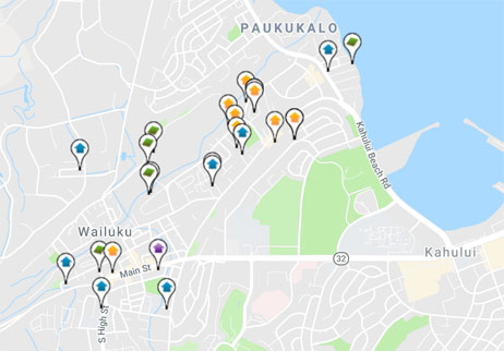 condos, homes and land for sale in Wailuku Hawaii