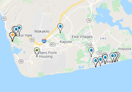 condos, homes and land for sale in Ewa Plain Hawaii